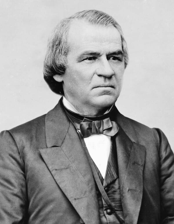 Impeached President Andrew Johnson