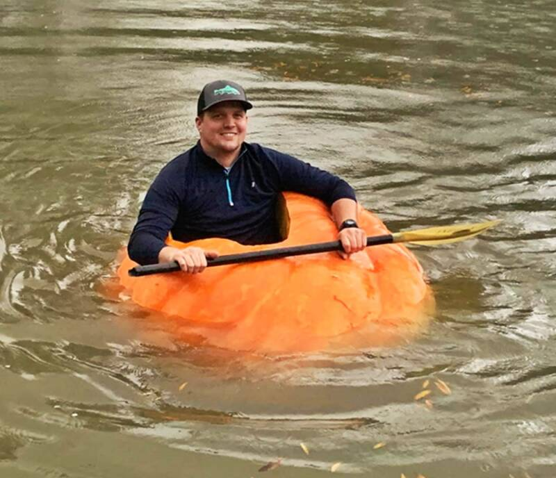 Pumpkin Boat In The Water