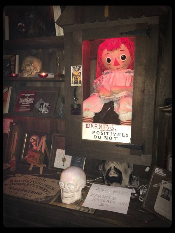 The Real Annabelle In A Museum