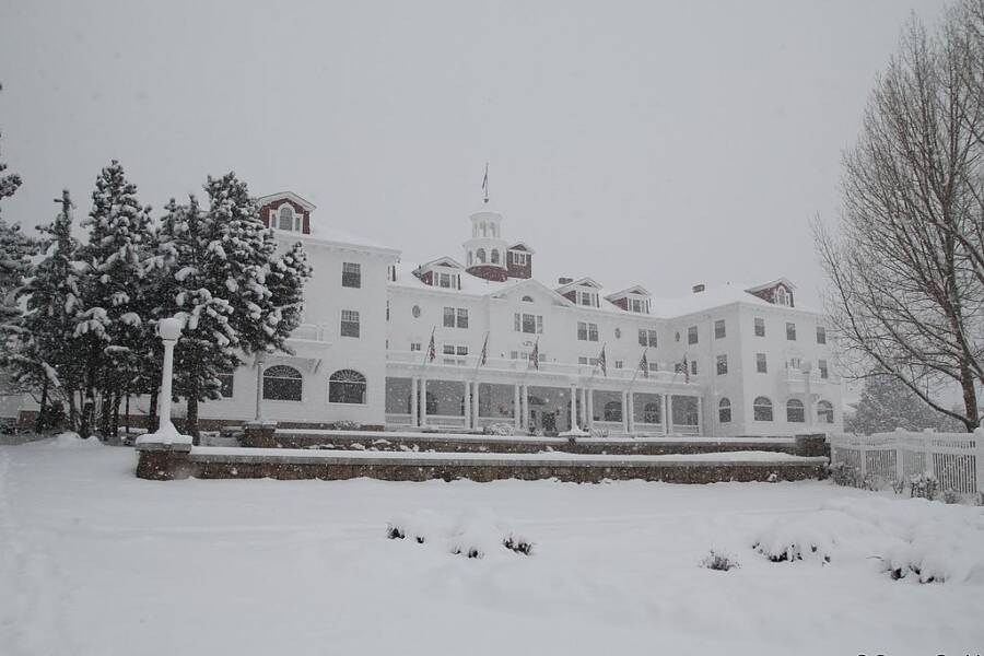 The Stanley Hotel Covered In Snow
