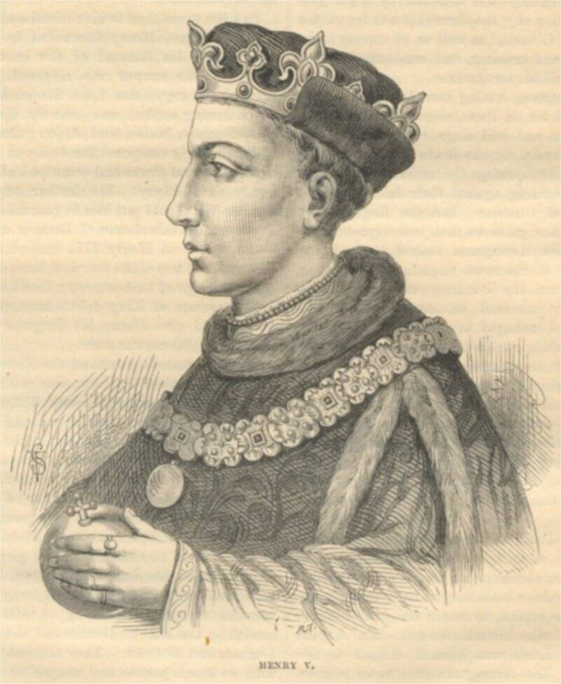 A 1902 illustration of King Henry V from Netflix's The King