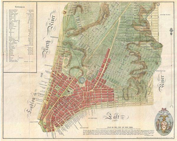 An 1801 Map Of New York
