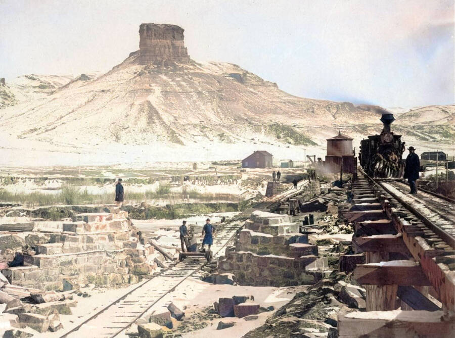 Colorized Old West Photo Of Wyoming