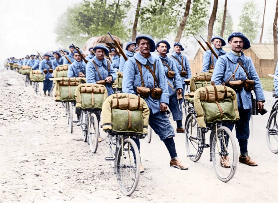 Alpine Cyclists Of World War I Colorized