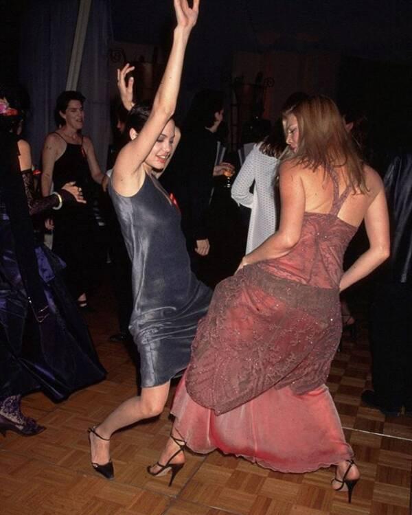 Angelina Jolie Dancing With Peta Wilson
