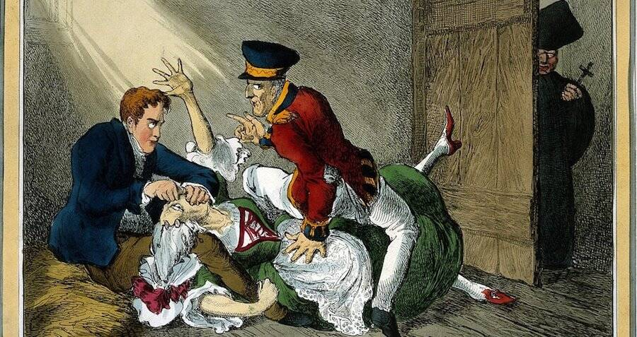Illustration Of Burke Murdering A Woman