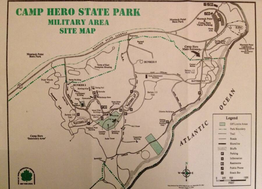 Camp Hero State Park Military Map