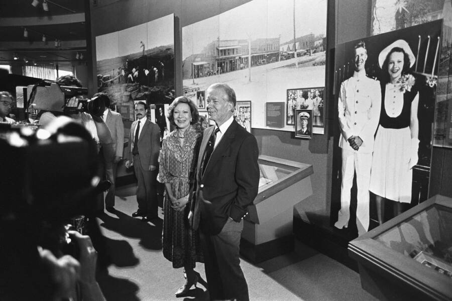 Jimmy And Rosalynn Carter At The Carter Center
