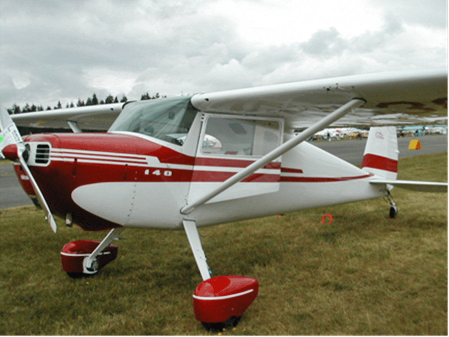 Cessna 140 Plane Model
