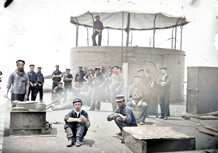 Color Civil War Photo Of USS Monitor