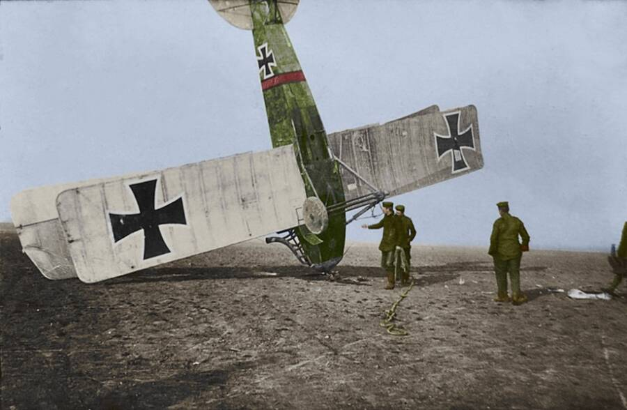 Crashed World War 1 German Airplane