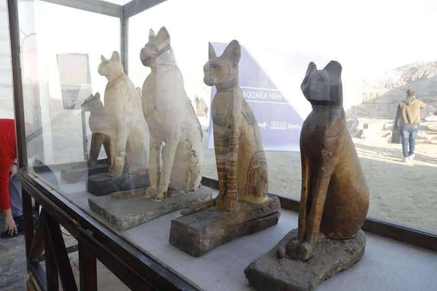 Egyptian Cat Statues From Saqqara
