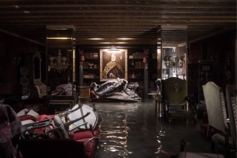 Flooded Venice Library