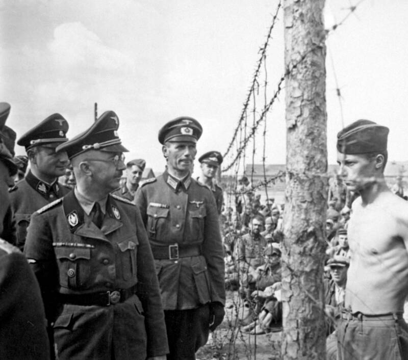 Heinrich Himmler At A Prisoner Of War Camp