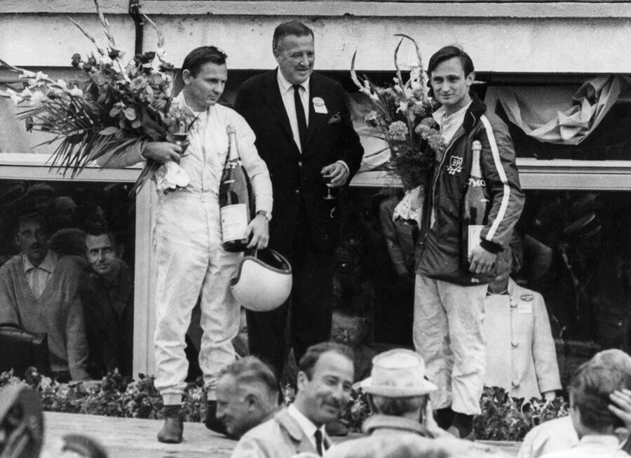 Henry Ford With Winning Drivers