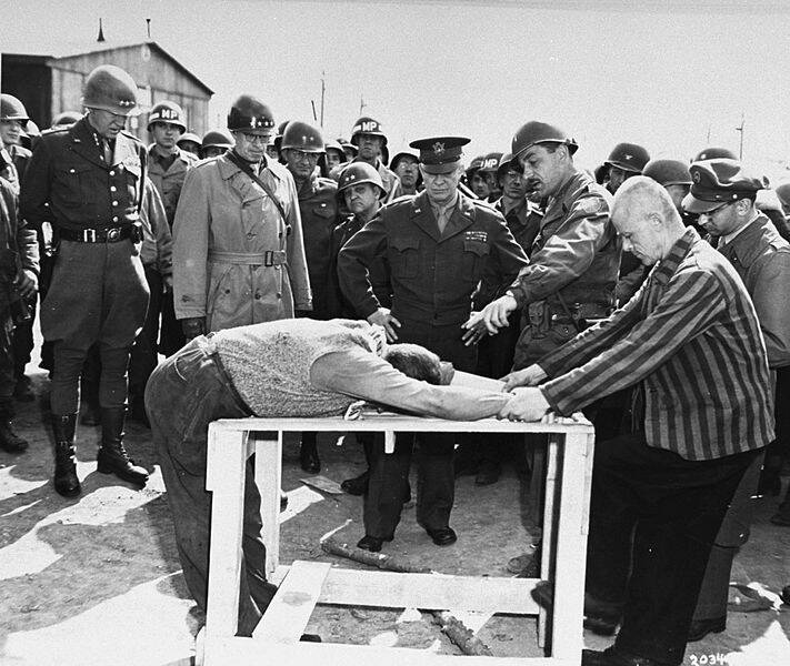 Holocaust Survivors Demonstrate Torture Methods To Gen. Eisenhower