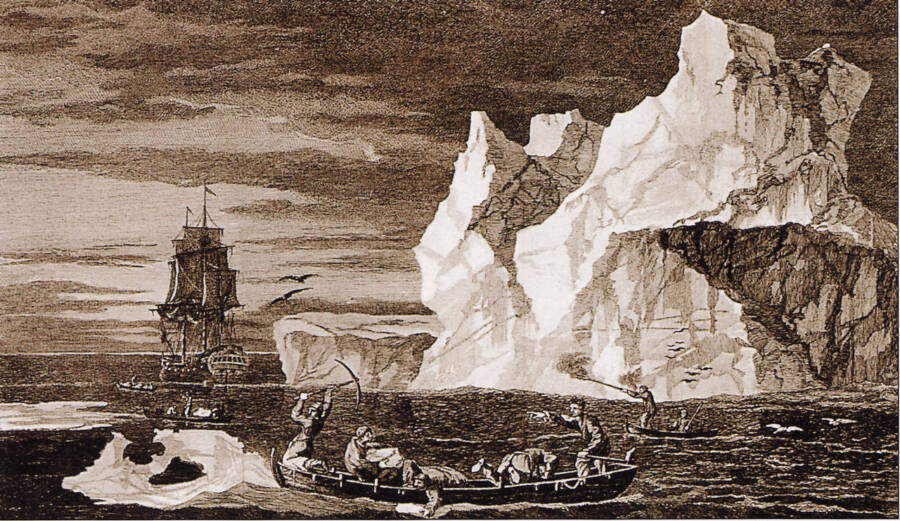 James Cook Near Antarctica