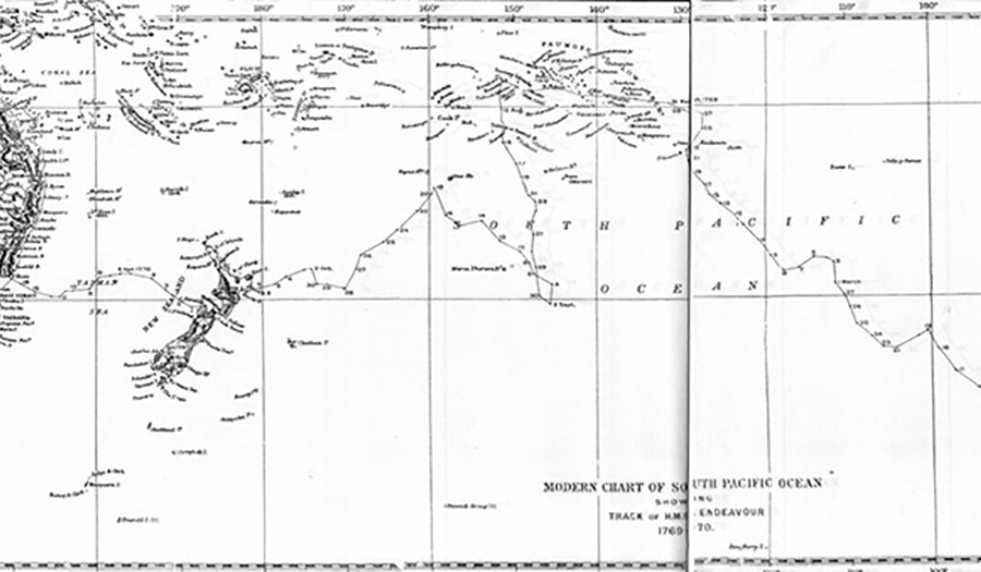James Cook's Chart Of South Pacific