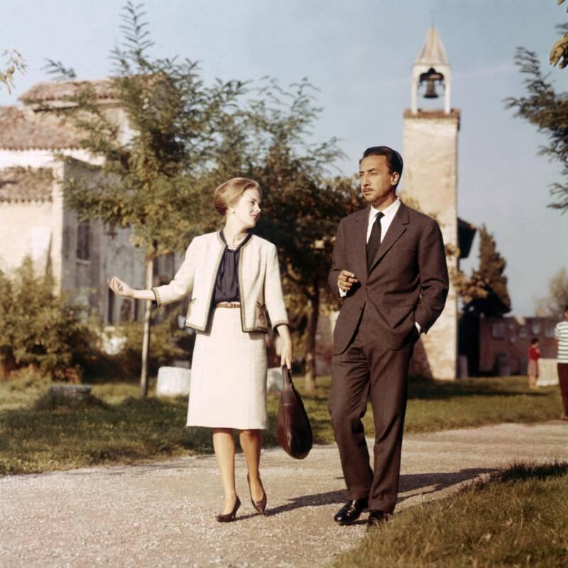 Jean Seberg Walking With Husband Romain Gary