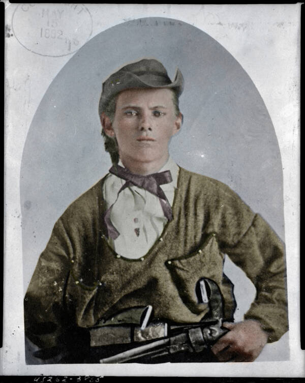 Jesse James Colorized Photo