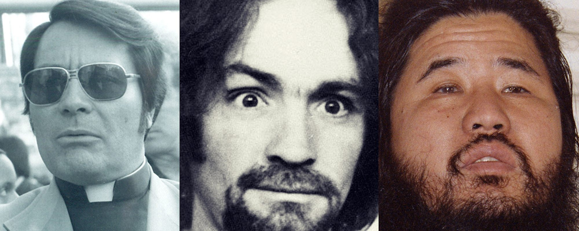 Jim Jones Charles Manson And Shoko Asahara