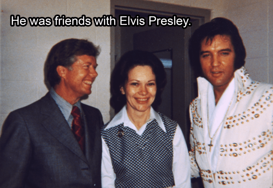 Jimmy And Rosalynn Carter And Elvis Presley
