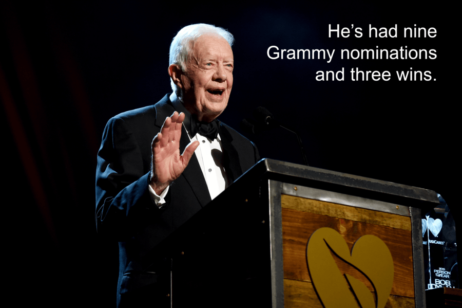 Jimmy Carter At The Grammys