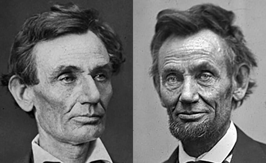 Abraham Lincoln Aging From 1860 To 1865