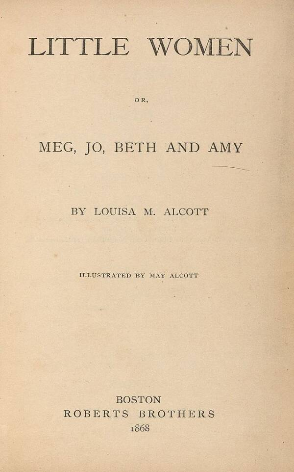 Original Cover Of 'Little Women'