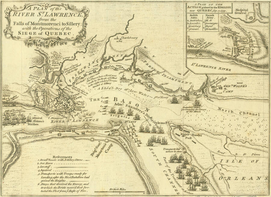 Map Of The Siege Of Quebec 1759