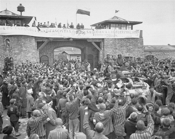 U.S. Army Liberates The Mauthausen Concentration Camp