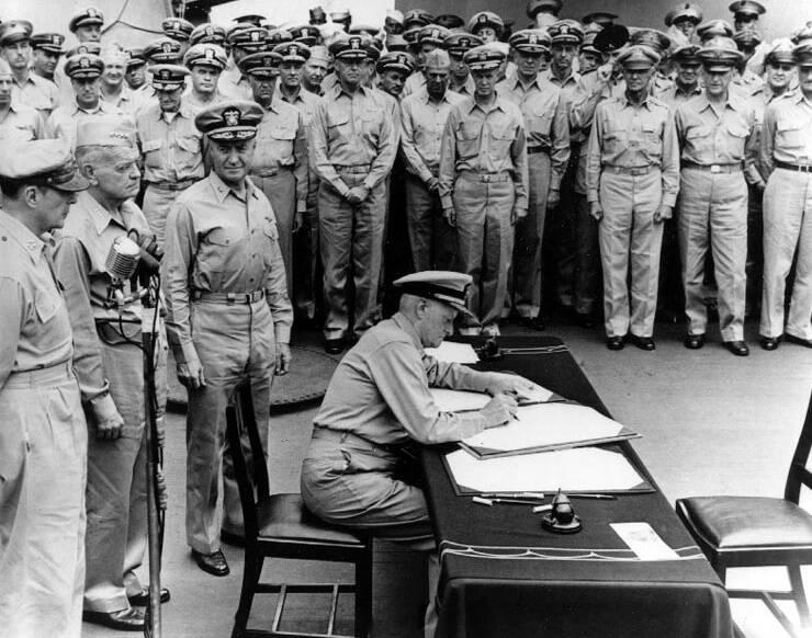 Nimitz Missouri Surrender Ceremony