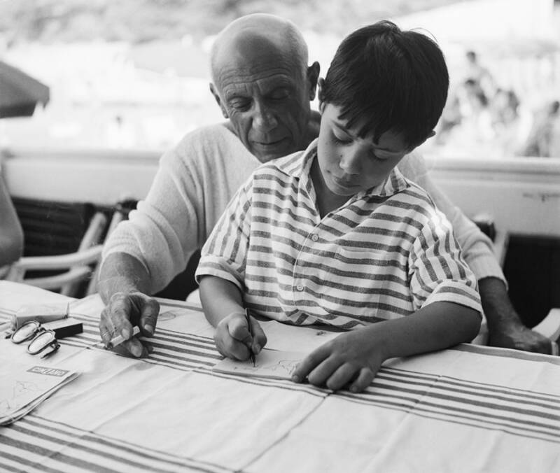 Pablo Picasso And His Son