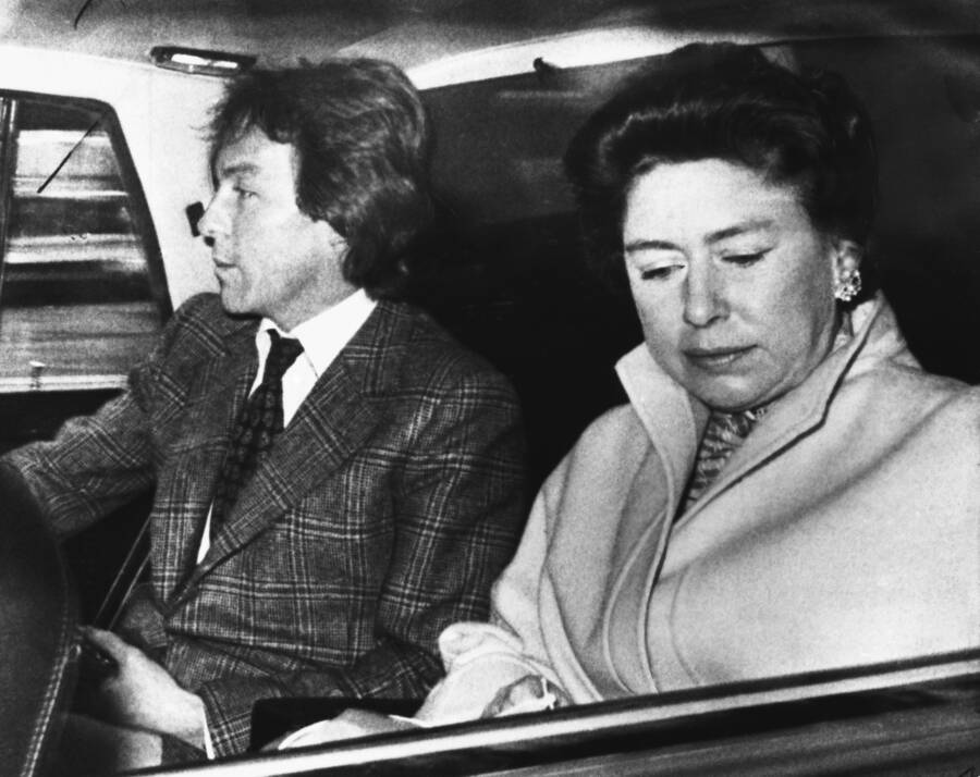 Princess Margaret In Car With Llewellyn