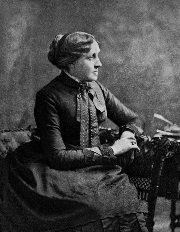 Side Portrait Of Louisa May Alcott