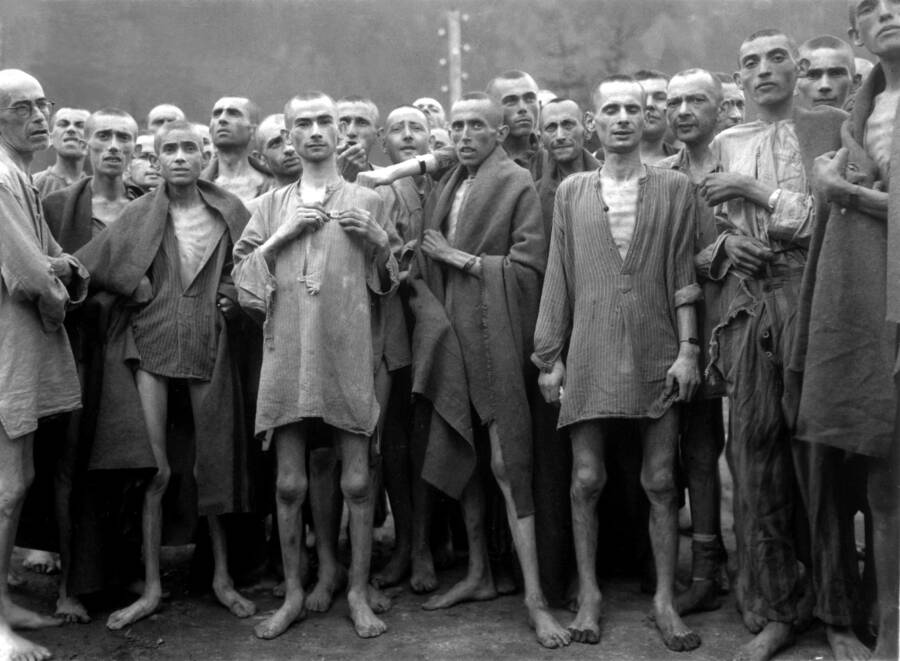 Survivors Of The Ebensee Concentration Camp