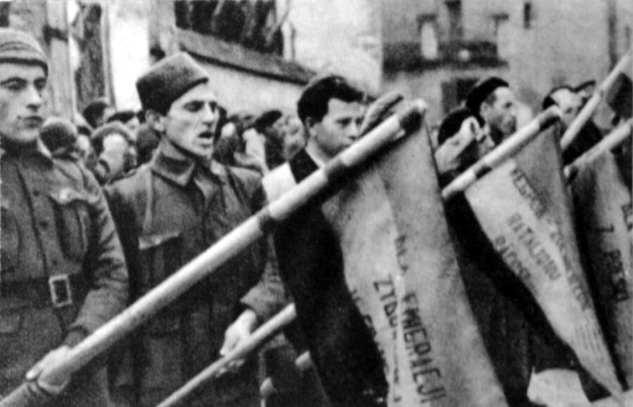Members Of The Dabrowski Battalion Of The Spanish Civil War