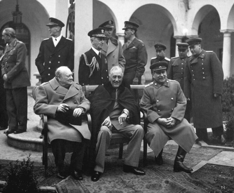 World Leaders At The Yalta Conference