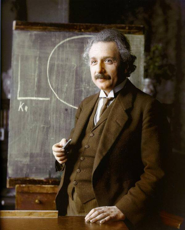 Colorized Black And White Photos Albert Einstein