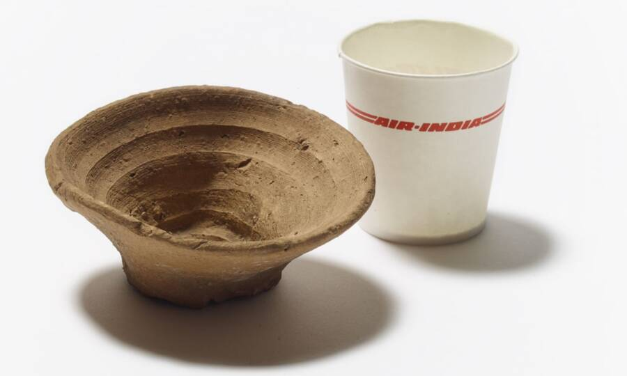 Ancient Minoan Disposable Clay Cup