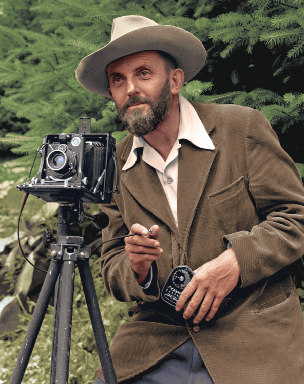 Colorized Photo Of Ansel Adams