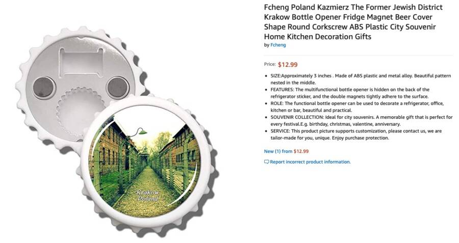 Auschwitz Bottle Opener