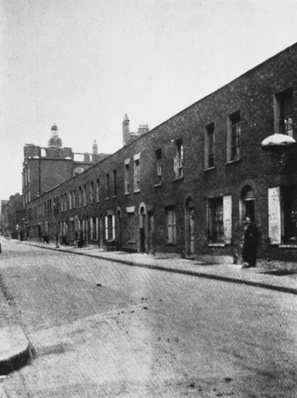 Berner Street London 19th Century Grainy Photo