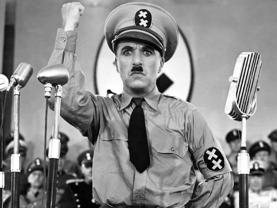 Charlie Chaplin As Hitler