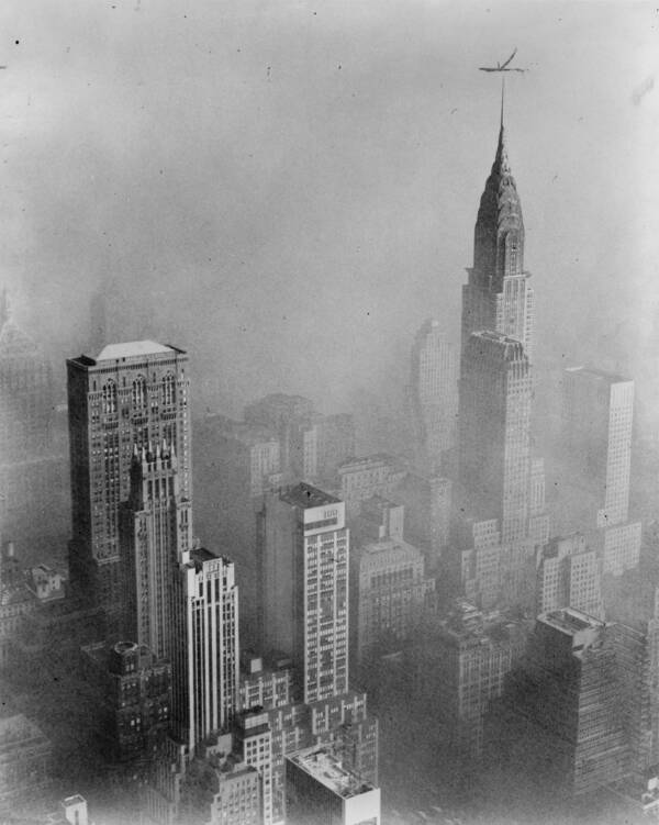 Chrysler Building Covered In Smog