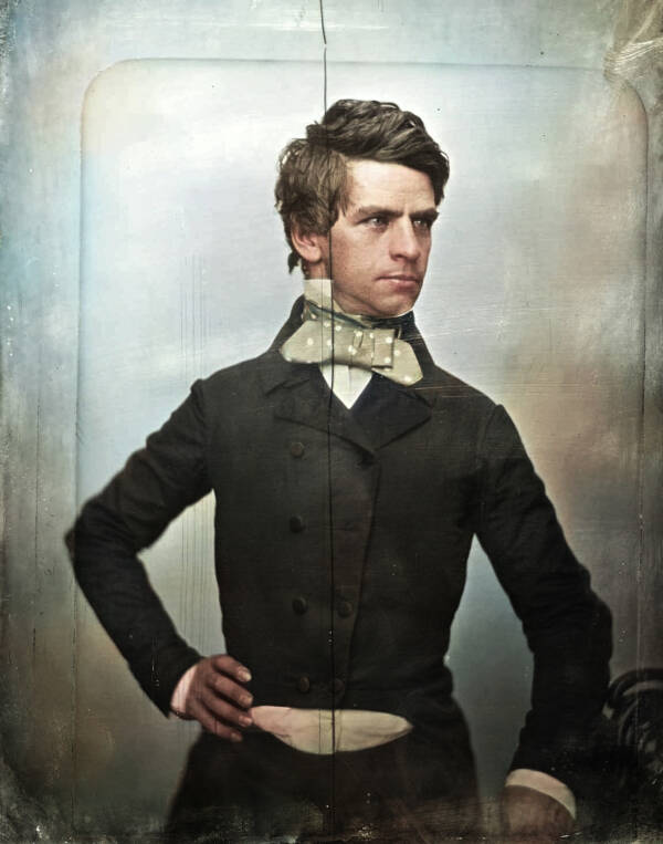 Colorized Portrait Of Nathaniel Banks