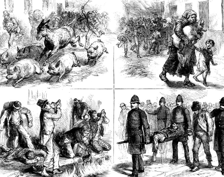 Dublin Whiskey Fire Of 1875 Illustrations