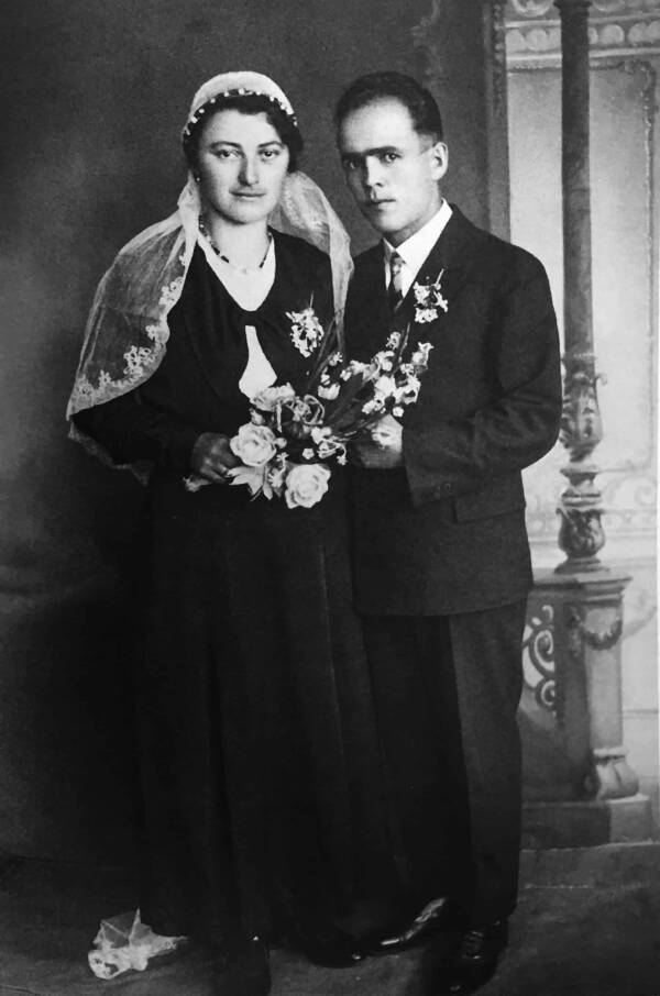 Franz Jägerstätter With His Wife