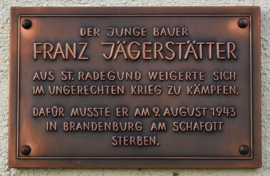 Franz Jägerstätter Plaque