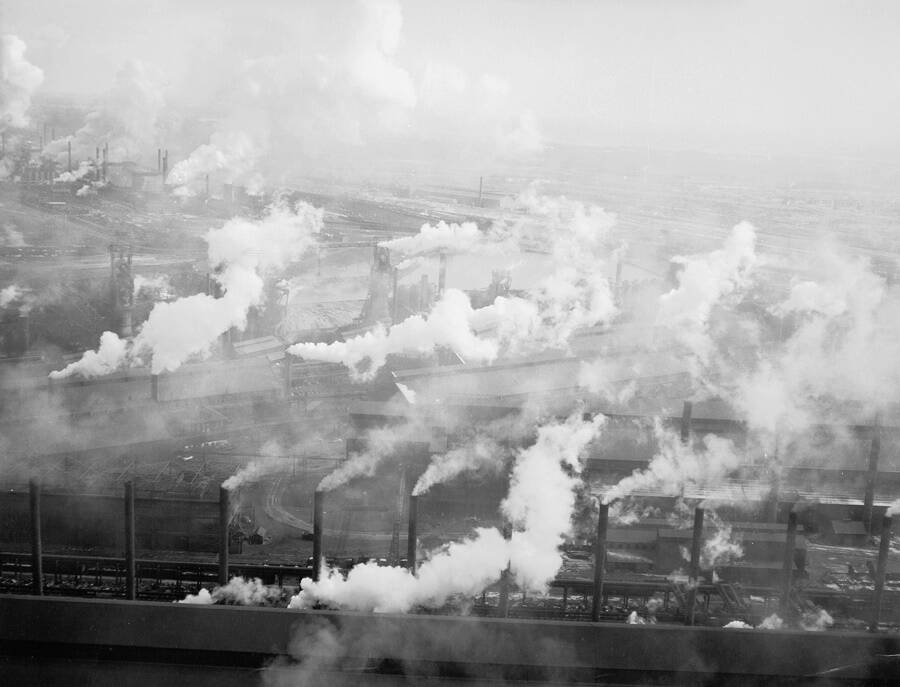 Steel Factory Smoke